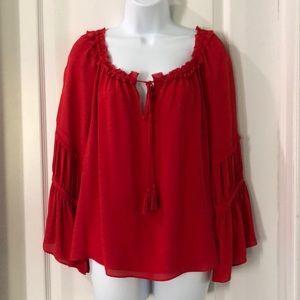 Ramy Brook red blouse. Medium